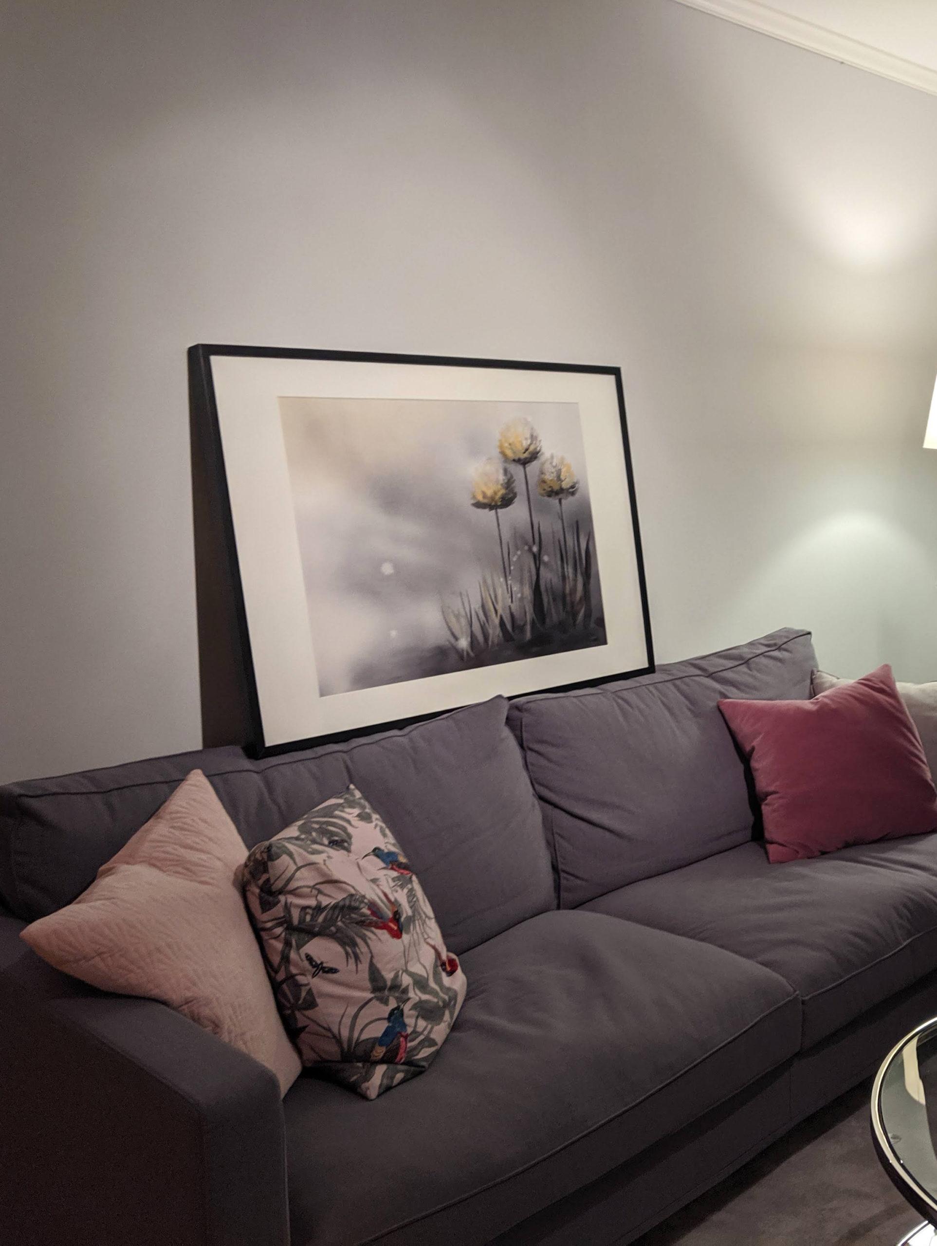Min målning i sitt nya hem