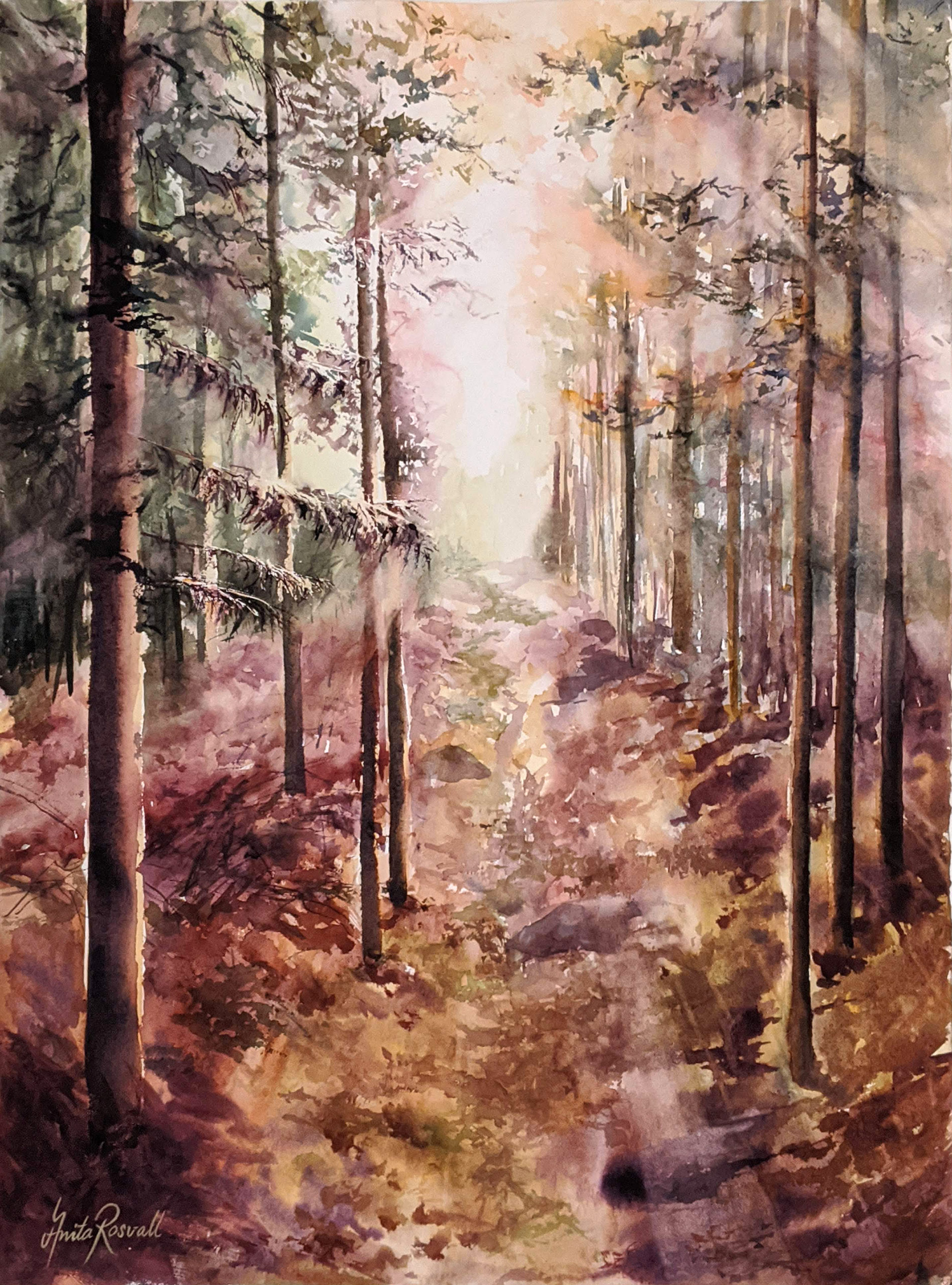 """Step by step """"A glow though the forest"""""""